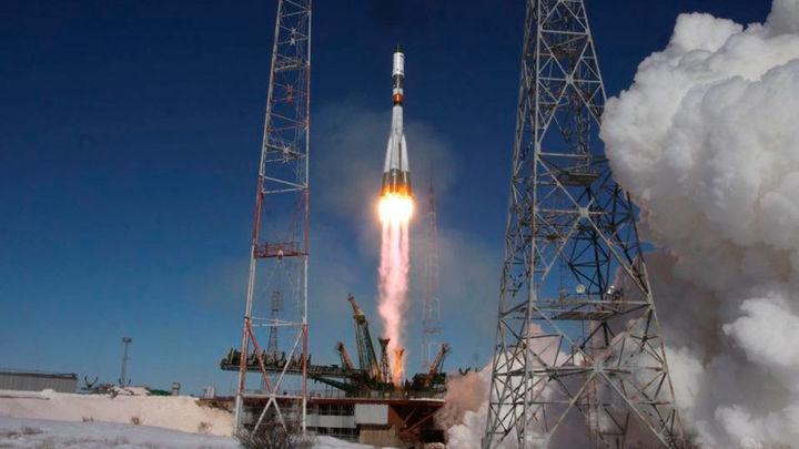 La nave de carga rusa Progress MS-08 despega rumbo a la EEI al segundo intento