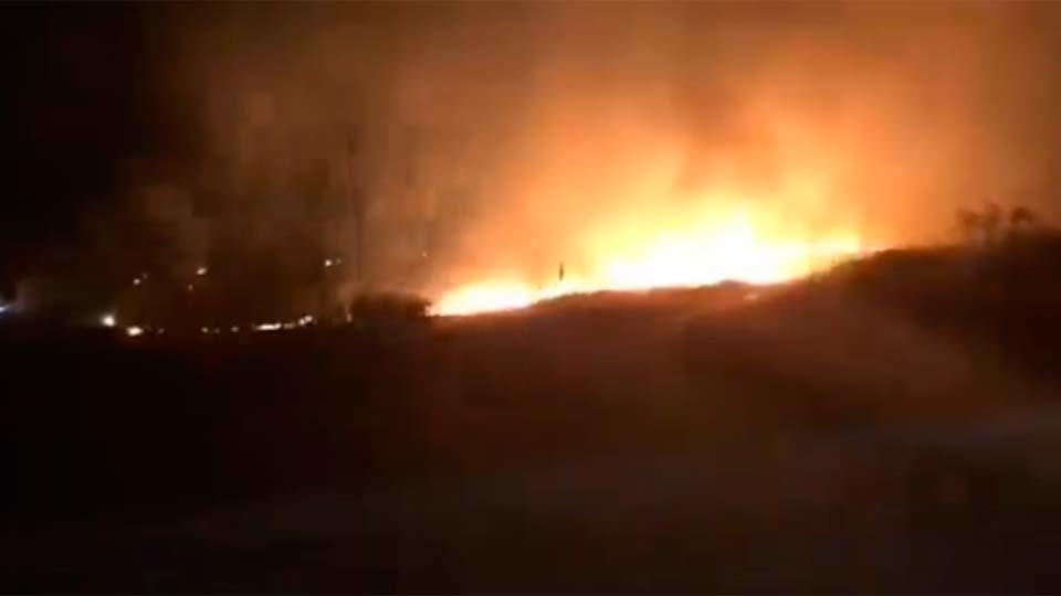 Captura de vídeo del incendio en el mar de Ontígola