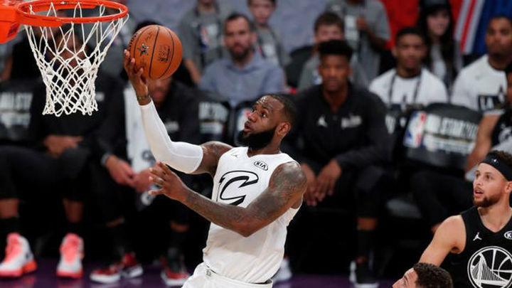 148-145. El equipo de LeBron se lleva un espectacula All Star