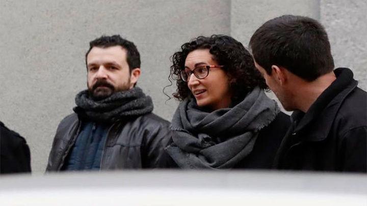 Marta Rovira, en libertad bajo fianza de 60.000 euros, tras declarar en el Supremo