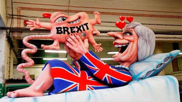 Figura alegórica al Brexit en el carnaval de Duesseldorf