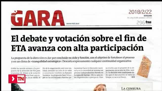 ETA somete a votación un documento que plantea su disolución, según Gara