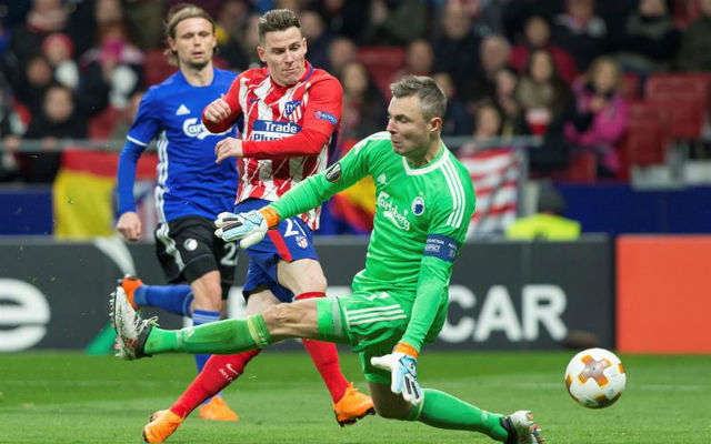 Gameiro ante el Copenhague