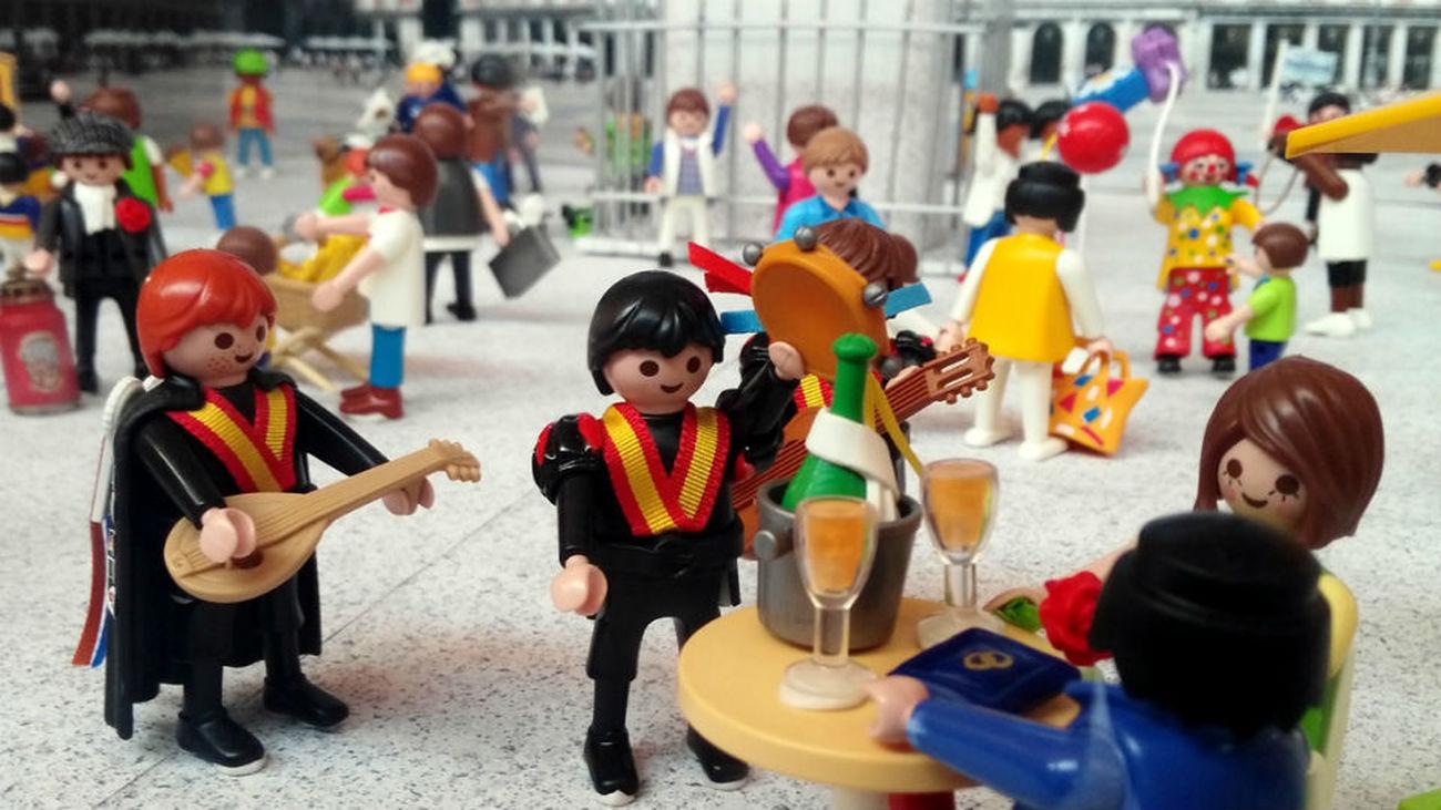 El Mercado del Juguete de Madrid recrea momentos históricos con más de 1.000 figuras de Playmobil y 18 dioramas