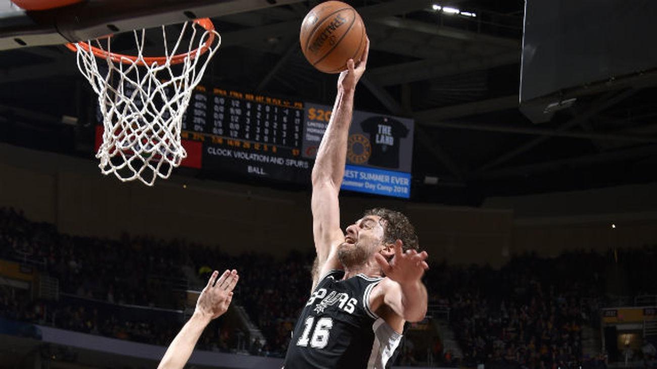 Pau Gasol y Mirotic apoyan los triunfos de Spurs y Pelicans
