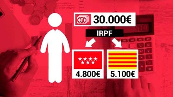 Cataluña es la comunidad donde las rentas medias y bajas pagan más IRPF