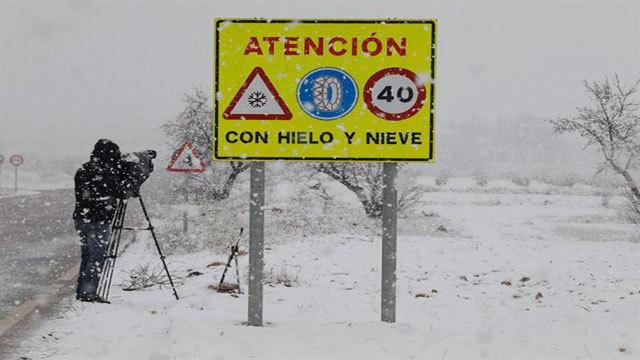 Riegos para la conducción ante la previsión de nevadas