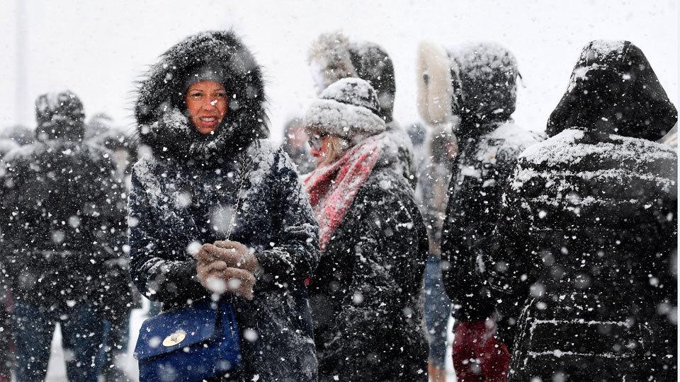 El temporal de nieve causa problemas en los transportes en toda Europa