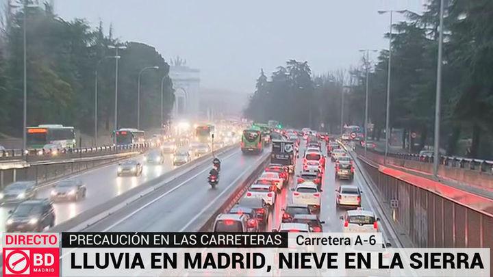 Complicaciones en las principales carreteras de acceso a la capital por la lluvia