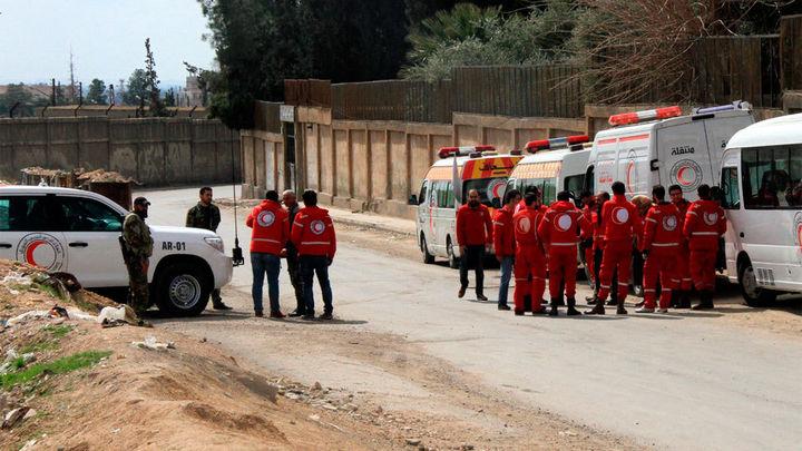 Comienza el tercer día de pausa humanitaria en Guta precedido de bombardeos