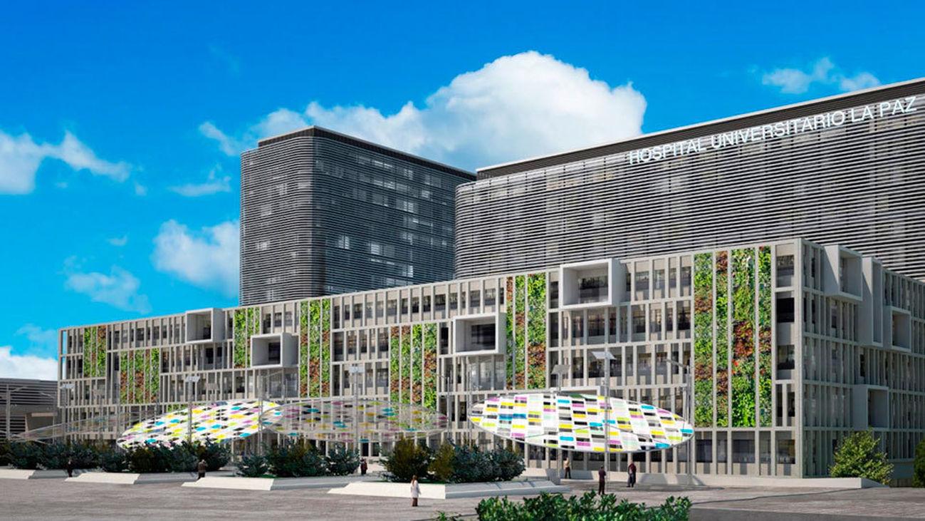 Recreación digital del nuevo Hospital de la Paz