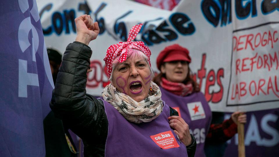 Más de 170.000 personas han recorrido las calles de la ciudad en las manifestaciones del Día de la Mujer