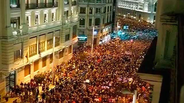Imagen de la manifestación en Madrid por la igualdad de la mujer