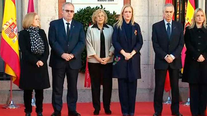 Cifuentes y Carmena homenajean a las víctimas del 11M