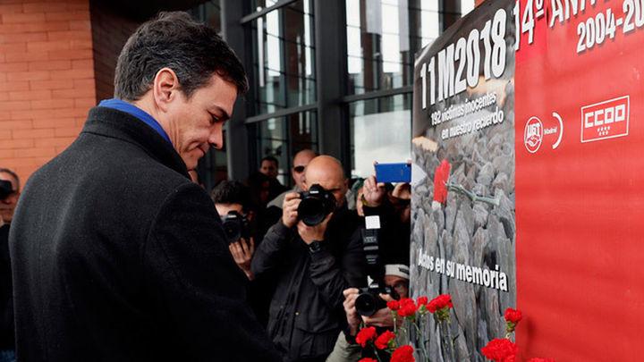 Sánchez alaba el ejemplo que dio Madrid en el recuerdo a las víctimas del 11M
