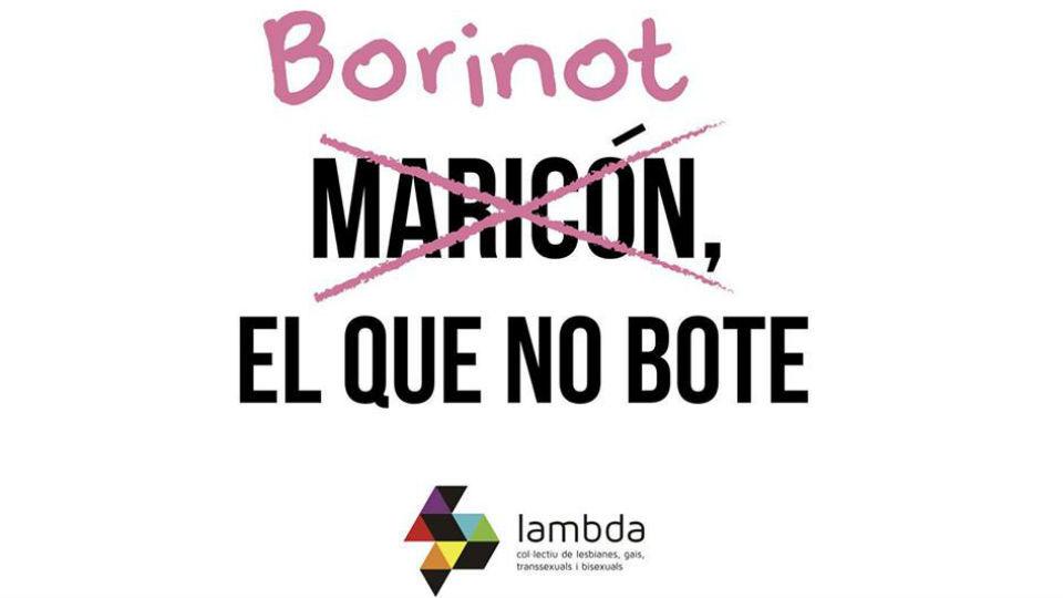 El mundo fallero se suma a la campaña 'Borinot el que no bote' de Lambda contra la LGTBfobia