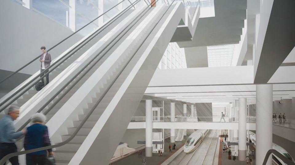 La estación de Atocha tendrá doble entrada y se ampliará debajo de la actual