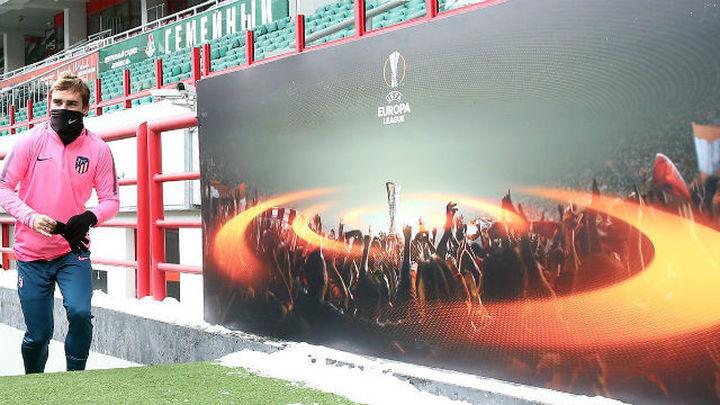 El Atlético se entrena en Moscú bajo cero y sin Oblak