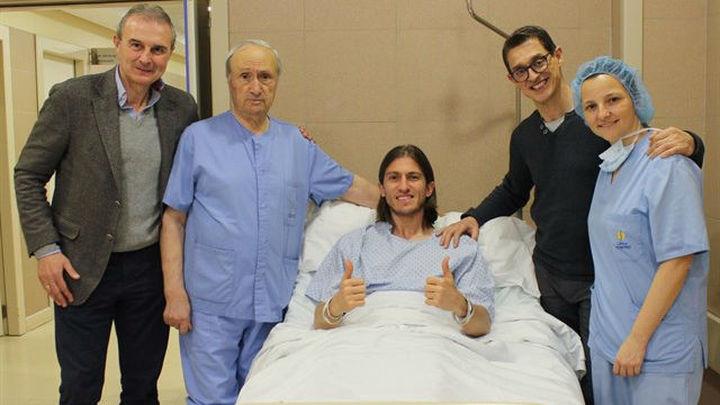 Filipe Luis, operado de la fractura de peroné
