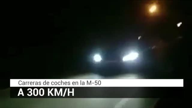 Identifican a un conductor que iba a 300 km/h por la M-50 en una carrera ilegal