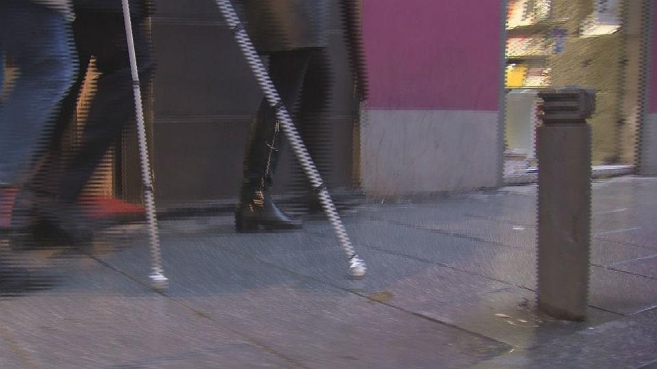 Inseguridad para los discapacitados visuales