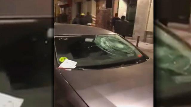 Destrozos en una veintena de coches en Lavapiés