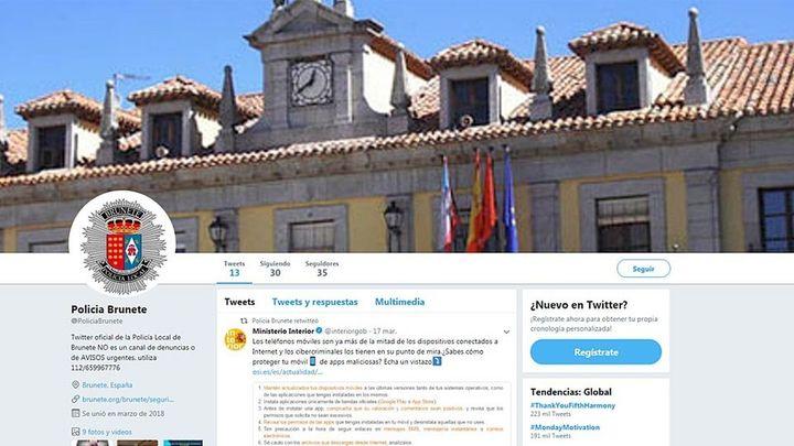 La Policía Local de Brunete inagura su perfil en Twitter