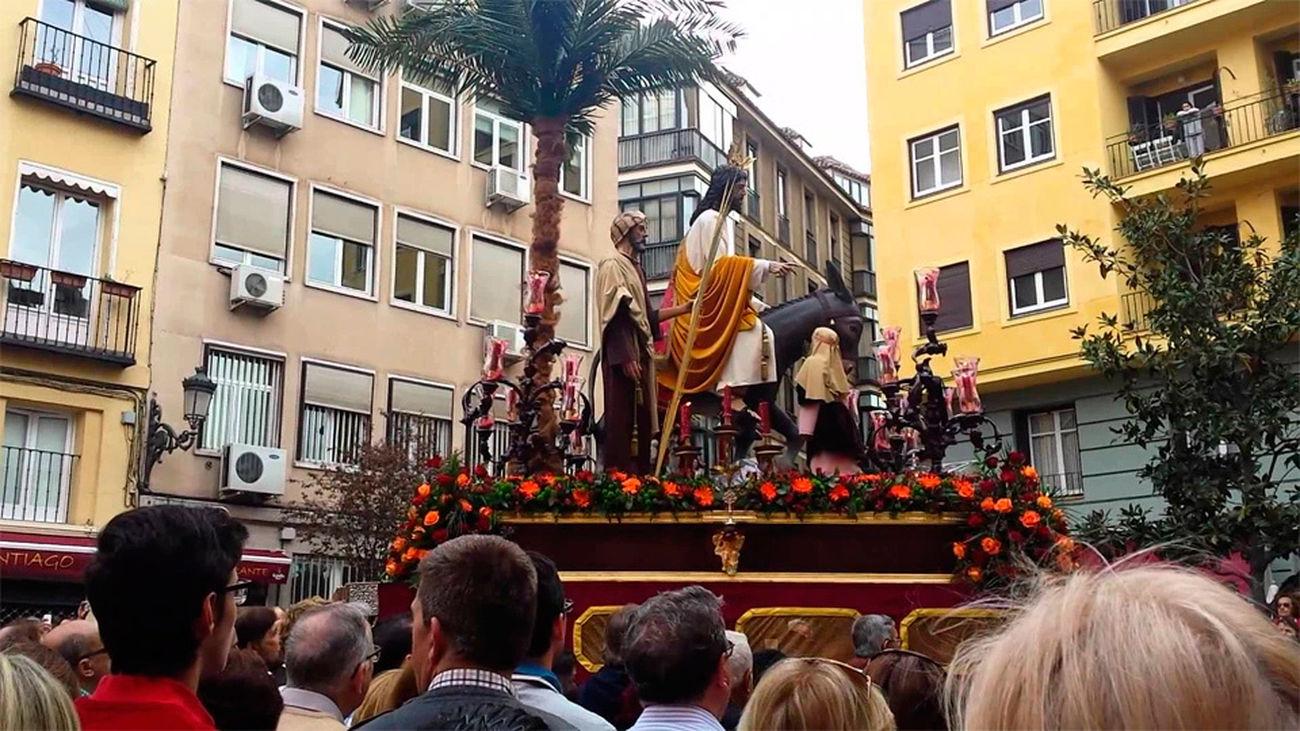 Imagen de la procesión de 'La borriquita' en el Domingo de Ramos (archivo)