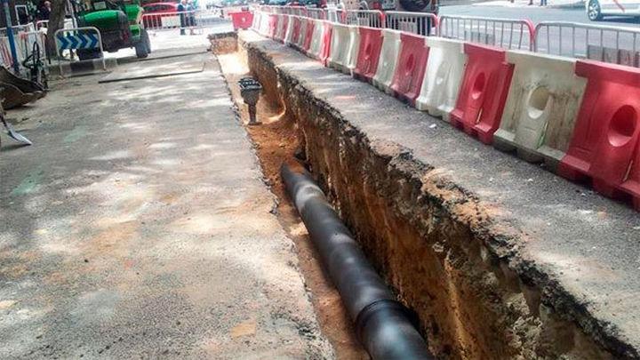 Renovación total de las tuberías del Canal de Isabel II en el paseo de la Castellana