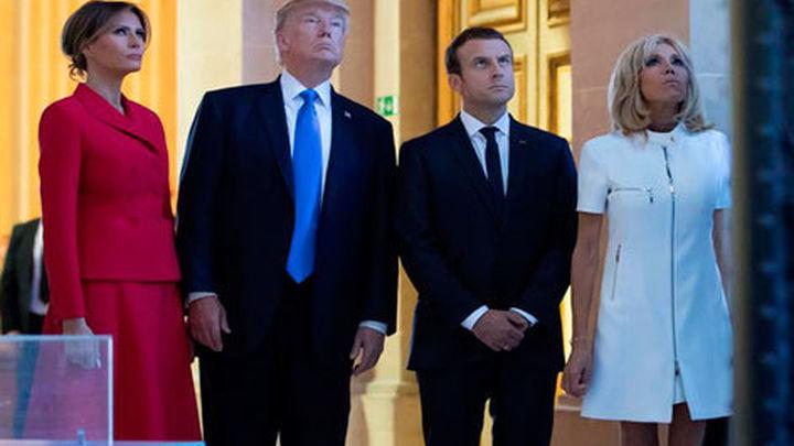 """Macron y Trump celebran la """"fuerte reacción internacional"""" contra Rusia"""