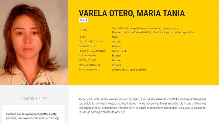 Detenida la narcotraficante Tania Varela, la española más buscada por la Europol