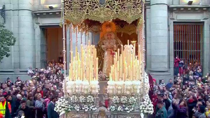 Tres grandes procesiones recorren Madrid en su Jueves Santo
