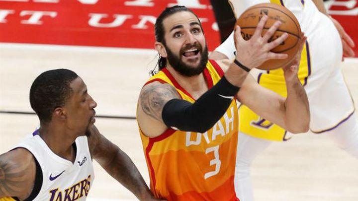 Rubio se exhibe ante los Lakers