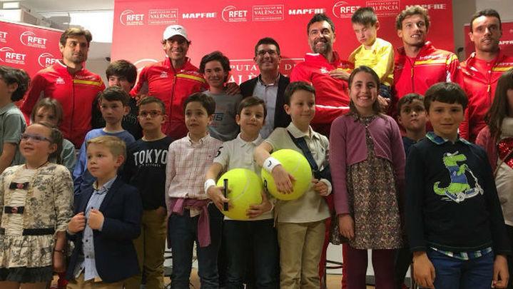 Copa Davis: Nadal y Ferrer, en individuales; Feliciano y López, en dobles
