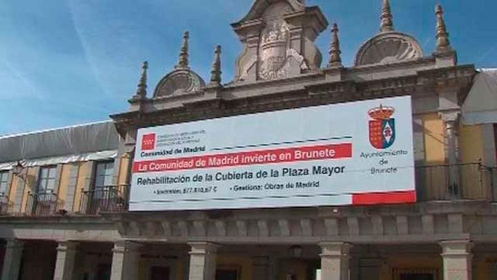 La reforma de la plaza Mayor de Brunete acabará en julio