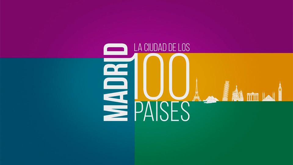 Logo de Madrid, Ciudad de los 100 países