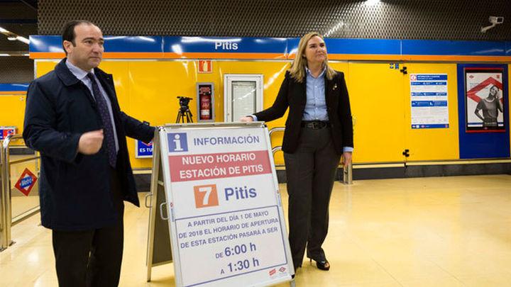 La estación de Metro de Pitis amplía su horario hasta la 1.30 horas, a partir del 1 de mayo