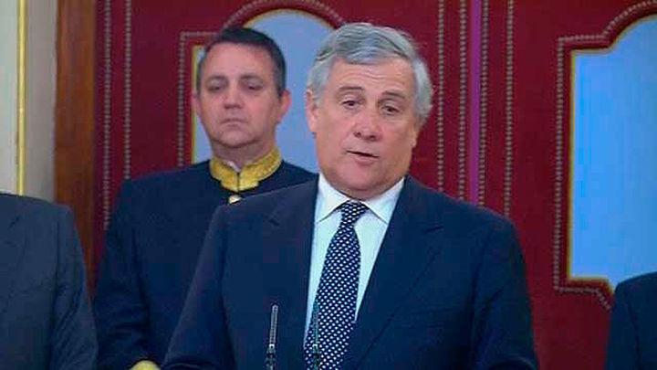 """Tajani: """"Los que pretenden dialogar fuera de  la ley solo quieren imponer sus ideas"""""""