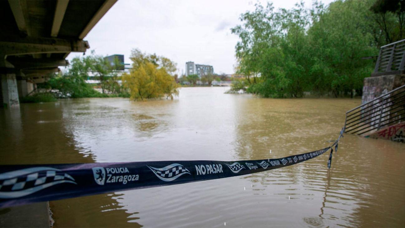 Emergencia en Navarra por inundaciones mientras el Ebro sigue creciendo
