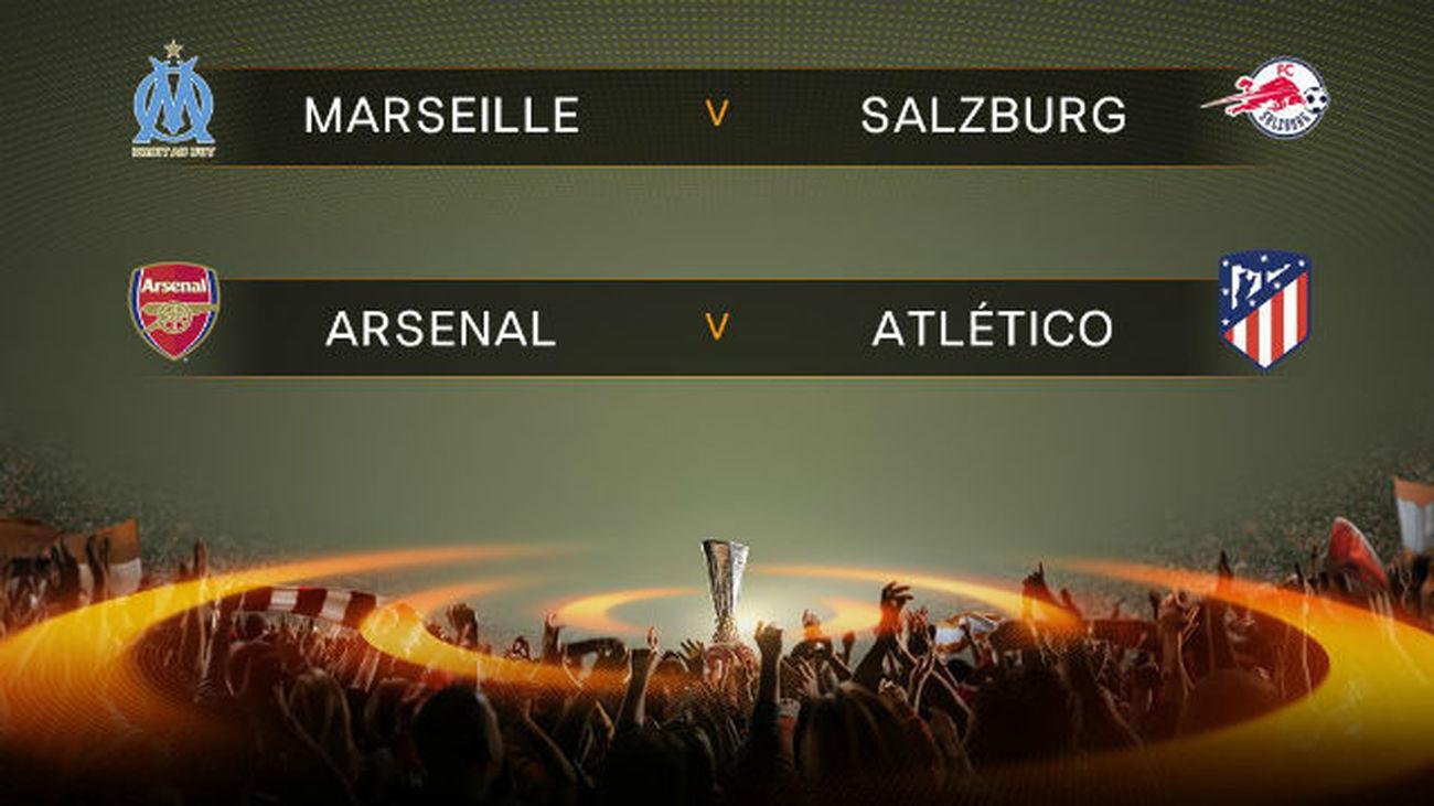El Atlético se jugará el pase a la final de la Europa League ante el Arsenal