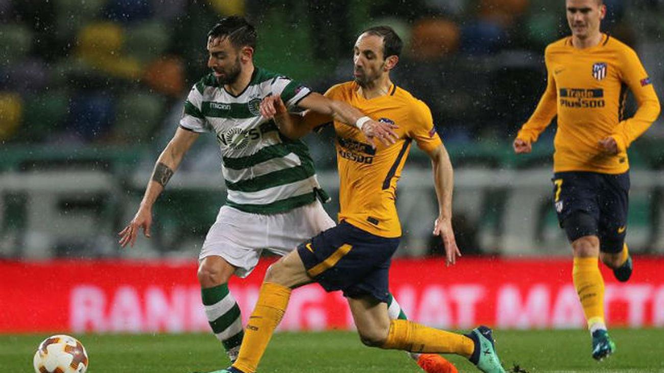 1-0. El Atlético pierde en Lisboa pero se mete en semifinales