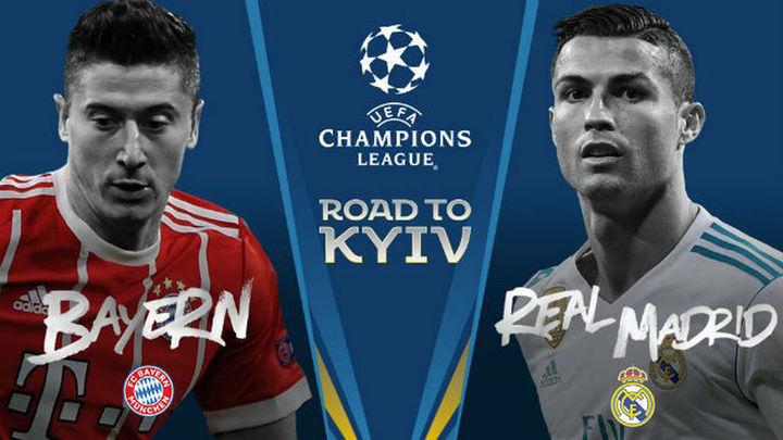 Bayern-Real Madrid y Liverpool-Roma, semifinales de Champions