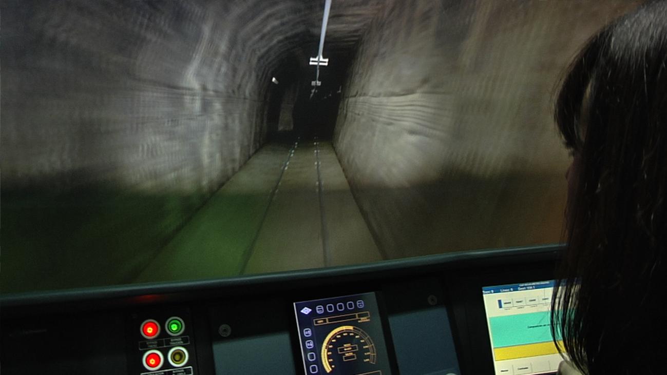 El simulador de tren. Así se conduce un convoy