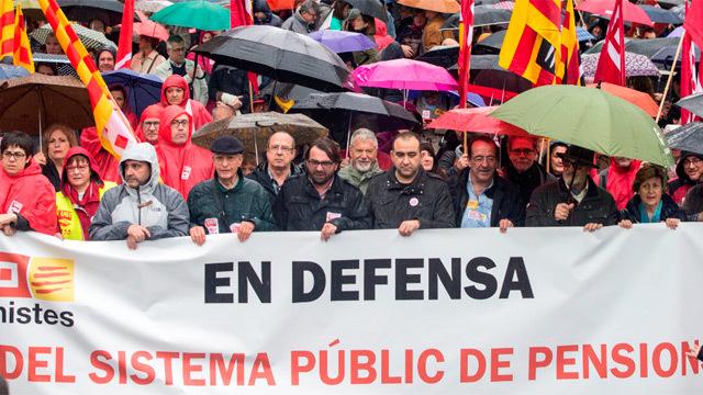 Los sindicatos salen a las calles en toda España por unas  pensiones dignas