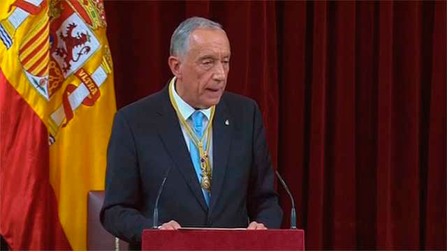 El presidente de Portugal, Marcelo Rebelo de Sousa en el Congreso