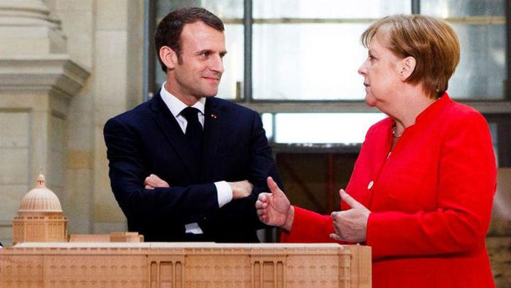 Merkel y Macron reafirman su voluntad de lanzar una propuesta común para reformar la Unión Europea