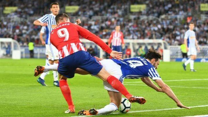 3-0. El Atlético se estrella en Anoeta