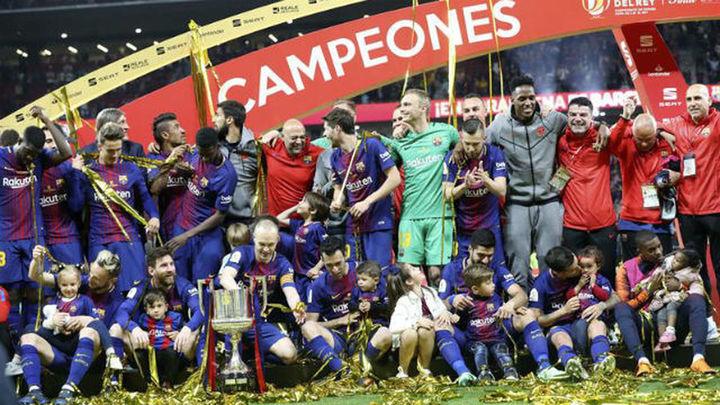5-0. El Barça golea al Sevilla y se proclama campeón de Copa
