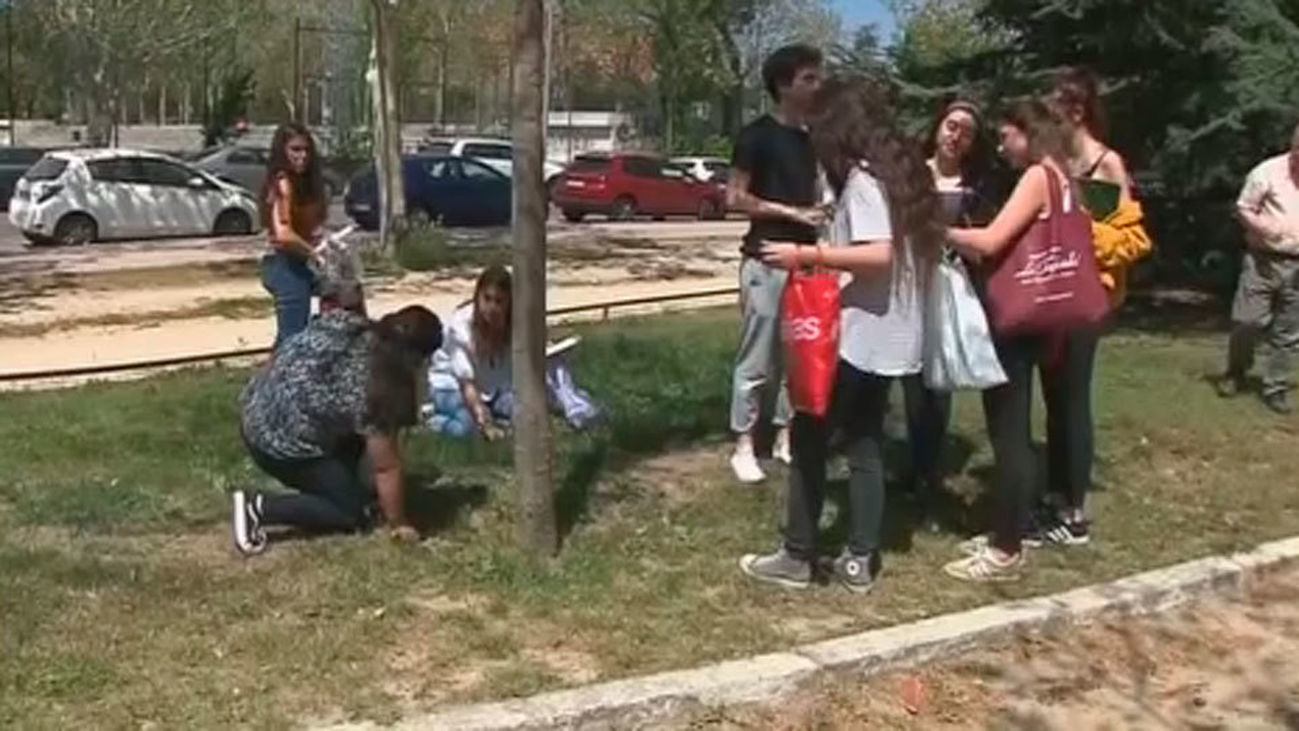 Los universitarios de la Complutense celebran el macrobotellón de 'San Cemento'