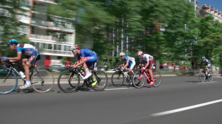 El Movistar y Óscar Sevilla, atracciones de la Vuelta a Madrid